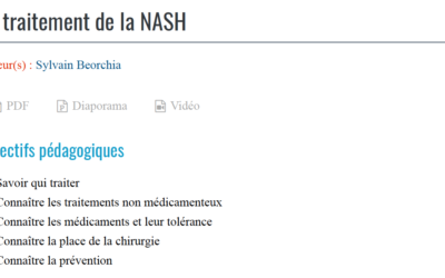 Le traitement de la NASH